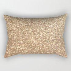 Copper Rose Gold Metallic Glitter Rectangular Pillow