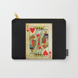 King Of Hearts Card Deck Old Carry-All Pouch