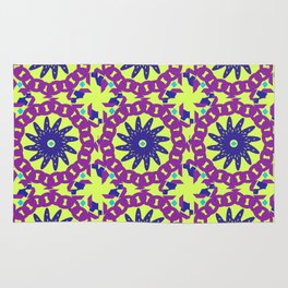 Chained Link Purple Spiral Flowers Rug