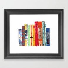 Bright Books Framed Art Print