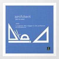 architect Art Prints featuring architect by Be Raza