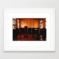 gym Framed Art Prints featuring Gym by Flashbax Twenty Three