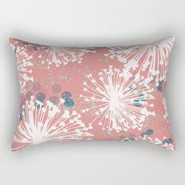 Pink Dandelion Dance Rectangular Pillow