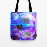 paradise Tote Bags featuring paradise by haroulita