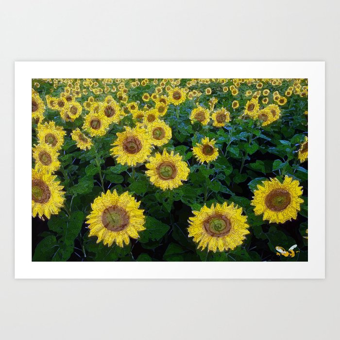 Find the bee two Art Print