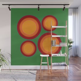 70s retro chic  - Sunspots in Green Wall Mural