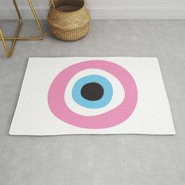 Pink Evil Eye Symbol Rug