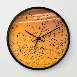 The Birds (Color) Wall Clock