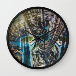 Dubai from the tallest building in the world Wall Clock