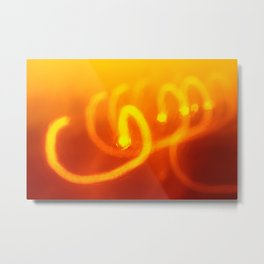 Light trails abstract Metal Print
