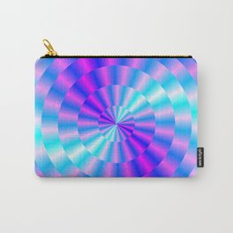 Spiral Rings in Pink and Blue Carry-All Pouch
