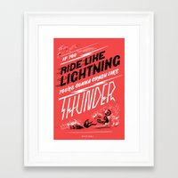 lightning Framed Art Prints featuring LIGHTNING by Jen Mussari