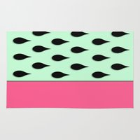 watermelon Area & Throw Rugs featuring Watermelon by Sweet Colors Gallery