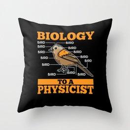 Biology Teacher T-Shirt science geek Throw Pillow