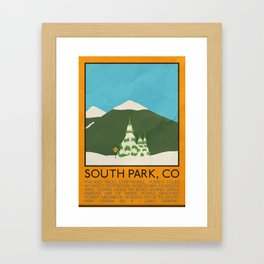 Silver Screen Tourism: SMALL TOWN, CO Framed Art Print