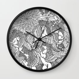 Pegasi, the Sun Dancers by Kent Chua Wall Clock