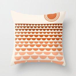 Boogy - retro 70s vibes sunset ocean water desert socal california travel retro minimal Throw Pillow