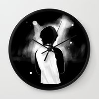 louis tomlinson Wall Clocks featuring WWA Louis Tomlinson by crystaltaysm