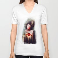 fitzgerald V-neck T-shirts featuring Bonhomie by adroverart