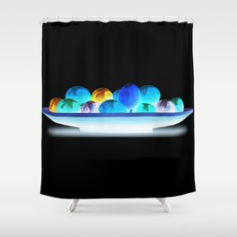 Shiny Eggs Shower Curtain