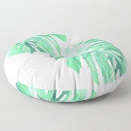 Watercolor Monstera Floor Pillow