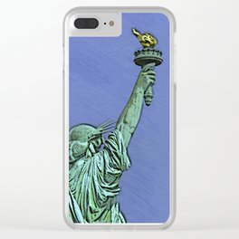 Lady Liberty #6 Clear iPhone Case