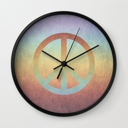 Peace V Wall Clock