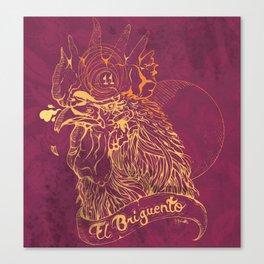 El Briguento - The Fighter (Golden) Canvas Print