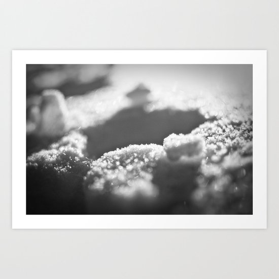 Snow Black and White Art Print