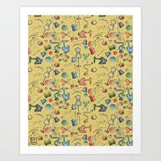 Sewing tools Art Print