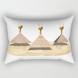 Building The Pyramids Rectangular Pillow
