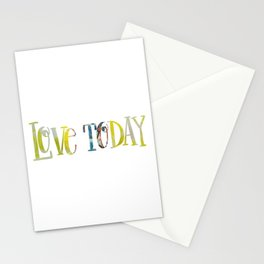 Love Today Quote Fabric Stationery Cards
