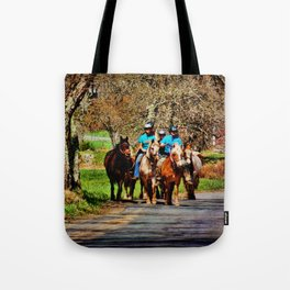 Horses Going Home Tote Bag