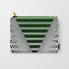 Graphic in green and black Carry-All Pouch
