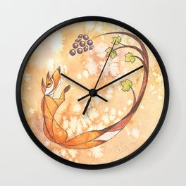 Aesop's Fables - The Fox and the Grapes Wall Clock