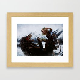 Swift kicks Framed Art Print