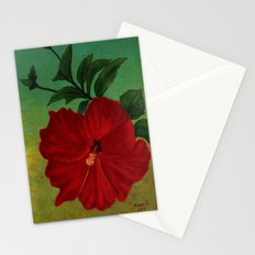 Red hibiscus Stationery Cards