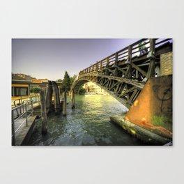 Bridge over the Grand Canal Canvas Print