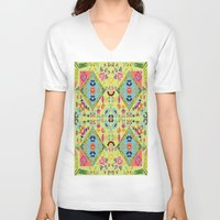 mirror V-neck T-shirts featuring Mirror  by MinaSparklina