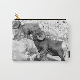2 Amazing Bighorn Sheep in Black and White by OLena Art for #Society6 Carry-All Pouch