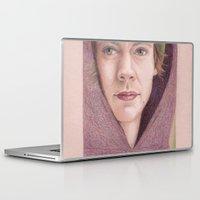 harry styles Laptop & iPad Skins featuring Harry Styles in Purple by Jen Eva