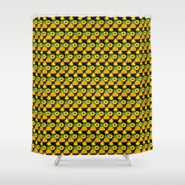 Pineapple is the New Black Shower Curtain