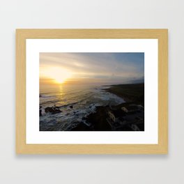 ocean sunset Framed Art Print