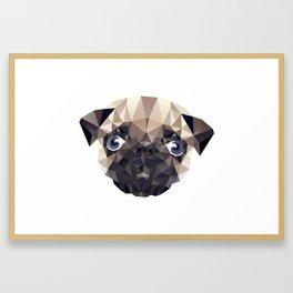 Pug Diamonds Framed Art Print