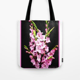 Pink Gladiolas Full Bouquet Tote Bag