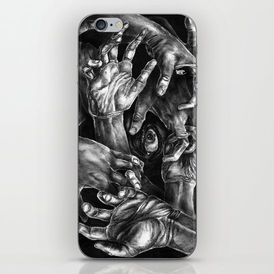 Getting Handsy (smothering, groping, hands) iPhone & iPod Skin