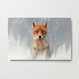 Vanishing Fox Metal Print