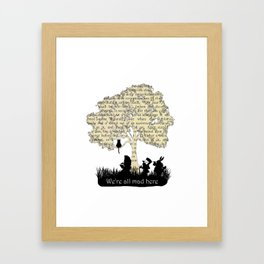 We're All Mad Here II - Alice In Wonderland Silhouette Art Framed Art Print