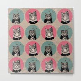 Cats Print Metal Print