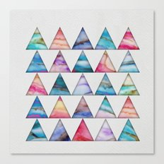 Marble Triangles 2 Canvas Print